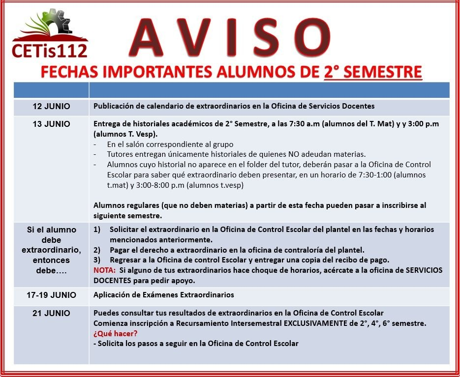 http://www.cetis112.edu.mx/wp-content/uploads/2016/08/Fechas-Importantes-2do-Semestre.jpeg