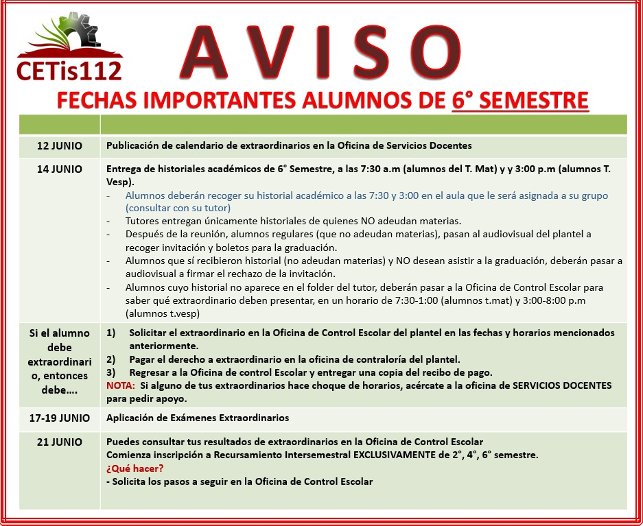 http://www.cetis112.edu.mx/wp-content/uploads/2016/08/Fechas-Importantes-6to-Semestre.jpeg